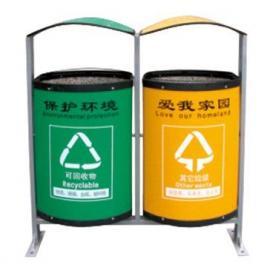 LF-102二分类环保垃圾桶 黄绿两格垃圾桶 分类垃圾箱