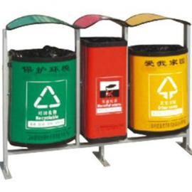 LF-103三分类环保垃圾桶 环保果皮桶 环卫垃圾桶 环保材料垃圾桶