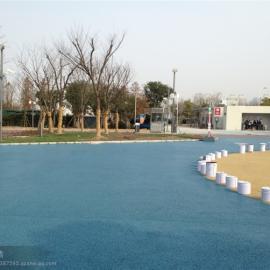 拜石直供浦东松江停车场彩色地坪-透水地坪-透水混凝土施工