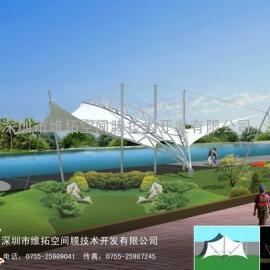 文化广场膜结构采购/膜结构长廊制作安装