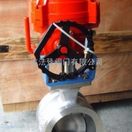 浆料粉料专用调节阀门,电动V型调节球阀