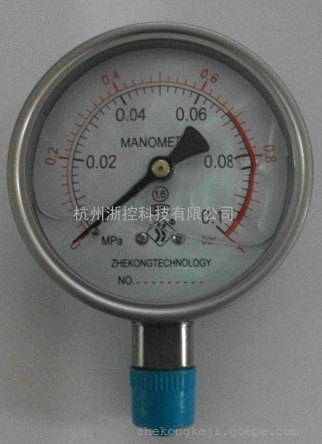 杭州不锈钢压力表