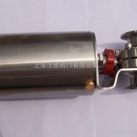 卫生级气动卡箍蝶阀AG官方下载,药厂气动快装蝶阀