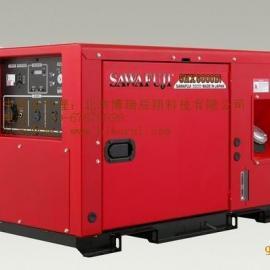 日本泽藤柴油豪华静音型数码变频发电机SHX12000DI