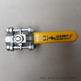 3PC不锈钢丝口丝口球阀