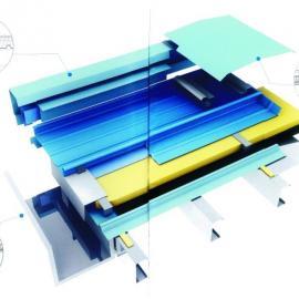 铝mei锰金属屋面-直立锁缝典型屋面