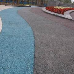 拜石广场透水混凝土-彩色混凝土-透水地坪价格做法