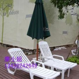 饶平酒店躺椅,现货塑料沙滩椅,实木躺椅