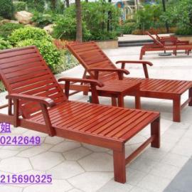 香洲酒店躺椅,现货塑料沙滩椅,实木躺椅