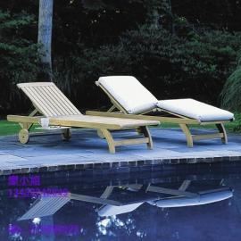 普宁酒店躺椅,现货塑料沙滩椅,实木躺椅