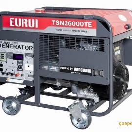 原装日本东洋EURUI汽油大功率发电机TSN26000TE