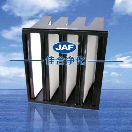 厂家供应塑料框V型过滤器亚高效过滤器ABS法兰框高效过滤网