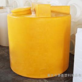 加药箱|1吨加药箱|黄色圆柱1吨溶药桶