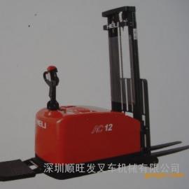 交流1.2吨平衡重式全电动堆高车 全电动升高车 升降叉车