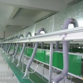 *流水线焊锡除烟抽风管道项目设计施工