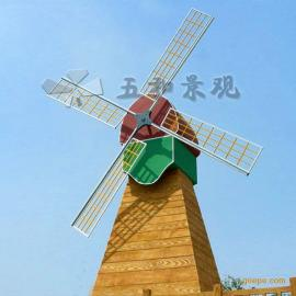 风车|水车|木桥|