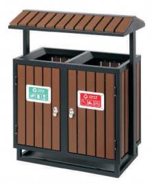 公交站台分类垃圾桶木条分类果皮箱