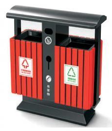 小区镀锌板分类垃圾桶公交站台分类垃圾桶