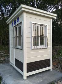 园林景区值班岗亭PVC挂板岗亭-不锈钢岗亭金属雕花板岗亭定制