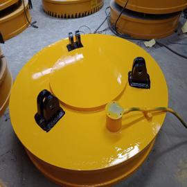 生产 挖机专用起重电磁铁 φ100圆形强力电磁吸盘