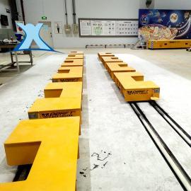 百特智能清洗清理房生产线运输搬运车 KPX蓄电池供电移动摆渡车非标定制