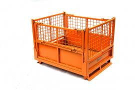 加厚钢制周转箱 产品框零件物料废料金属铁质仓储框折叠储存铁框
