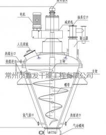 快速出料氢氧化铁锥形烘干机