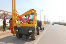 公路护栏立杆打桩机 装载式护栏打桩机 博远直售