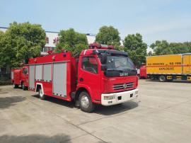 小型国五东风小多利卡4吨消防洒水车
