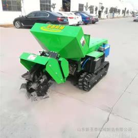 圣泰全自动开沟机工作视频 施肥机的回填功能ST-32