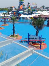 游泳池刷漆工程 海蓝防滑环保水乐园彩色涂料 海浪池漂流河刷漆