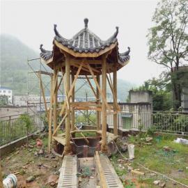 银东公园防腐木岗亭厂yd035