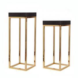 力恒不锈钢厂家定制不锈钢花架简约现代室内轻奢金色不锈钢花架