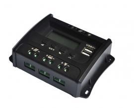 奥林斯10Apwm太阳能控制器 12V24V双USB输出太阳能板控制器