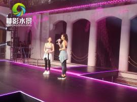 唐艺昕为乔丹品牌代言走秀、发言、数控水幕背景