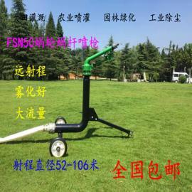 FSN40或50蜗轮蜗杆远程自动雾化喷灌喷枪农田灌溉煤场除尘喷头