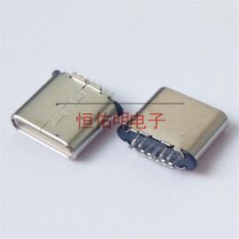 Type-c 7P11P短体公头 超短外露6.75 立式插板 夹板0.8 针长1.0