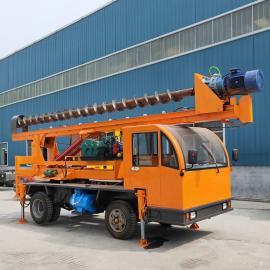 *热门的地基打桩机 螺旋钻杆地基引孔钻机 车载式引孔钻机