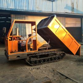 工厂橡胶式履带运输车 多用途履带运输车 林场果园专用运输车