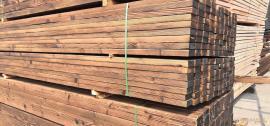 碳化木景观木材、炭化木防腐木、炭化木地板