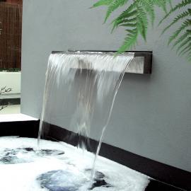 庭院瀑布造景流水墙鱼池装饰水景不锈钢出水口