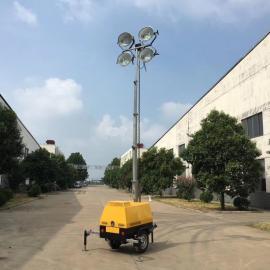 金卤灯移动应急照明车7米工程拖车照明车升降防倾倒灯塔
