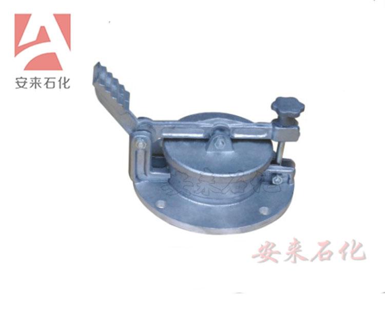 脚踏式量油孔铝合金脚踏式GLY旋转式量油口油罐加油站石油配件
