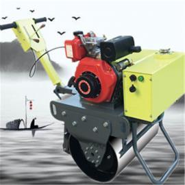 建筑施工小型压路机 边角整平手扶压实机 柴油液压转向振动碾