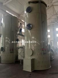 填料式酸雾废气净化塔 二级喷淋塔废气处理 工业废气净化塔