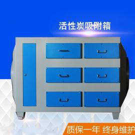中扬活性炭环保箱漆雾箱工业废气处理设备活性炭吸附箱5000风量