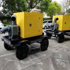 君东动力防汛大功率水泵 8寸柴油机自吸污水泵 便携移动式柴油机水泵机组JZW300-20