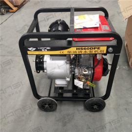6寸柴油水泵 便�y式水泵抽水泵
