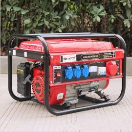 5kw翰丝汽油发电机 电启动汽油发电机
