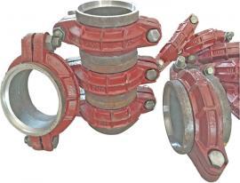 DN250管卡钢环式卡箍沟槽卡箍